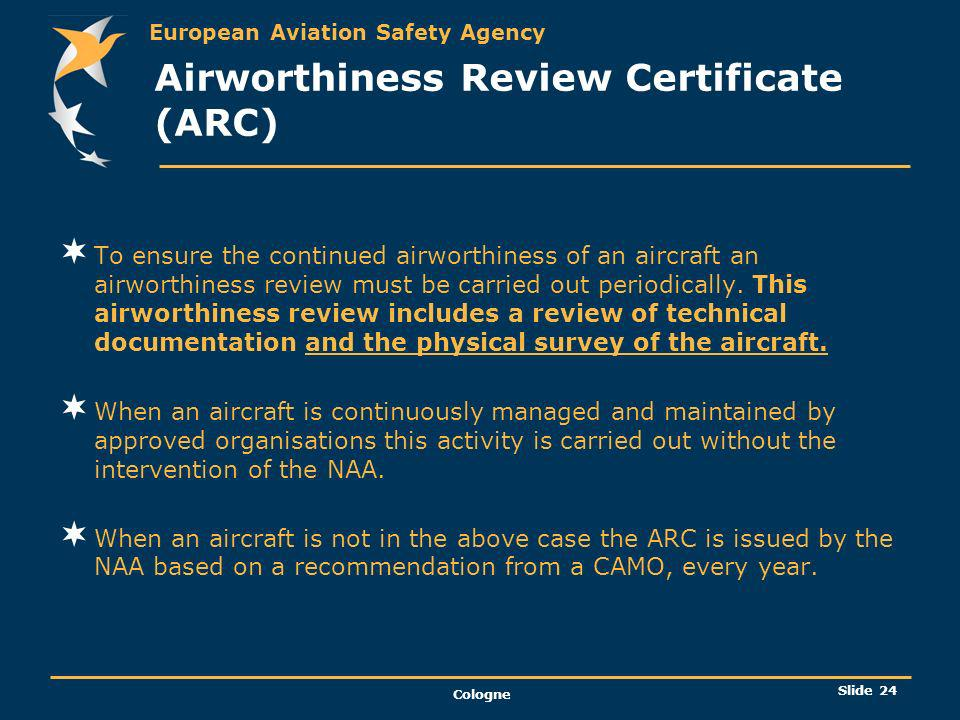 Airworthiness Review Certificate (ARC)