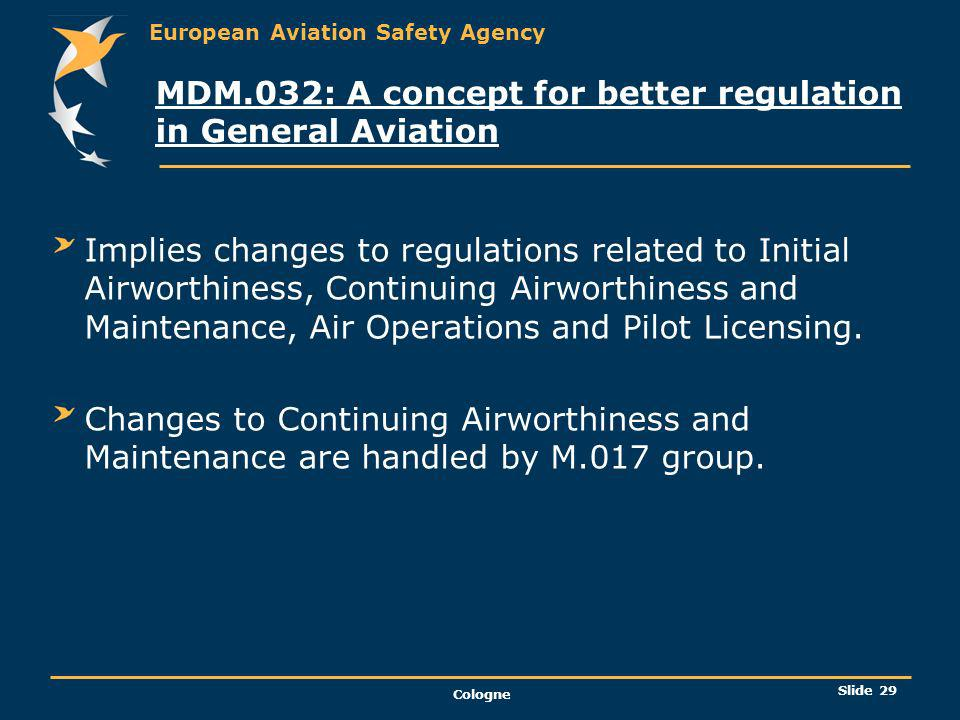 MDM.032: A concept for better regulation in General Aviation
