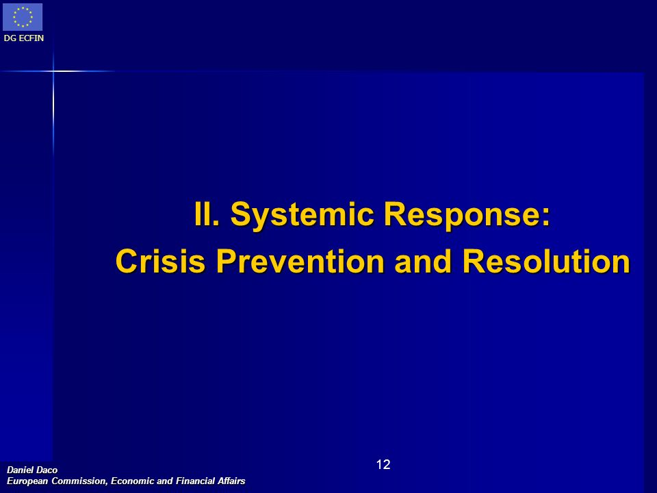 Crisis Prevention and Resolution
