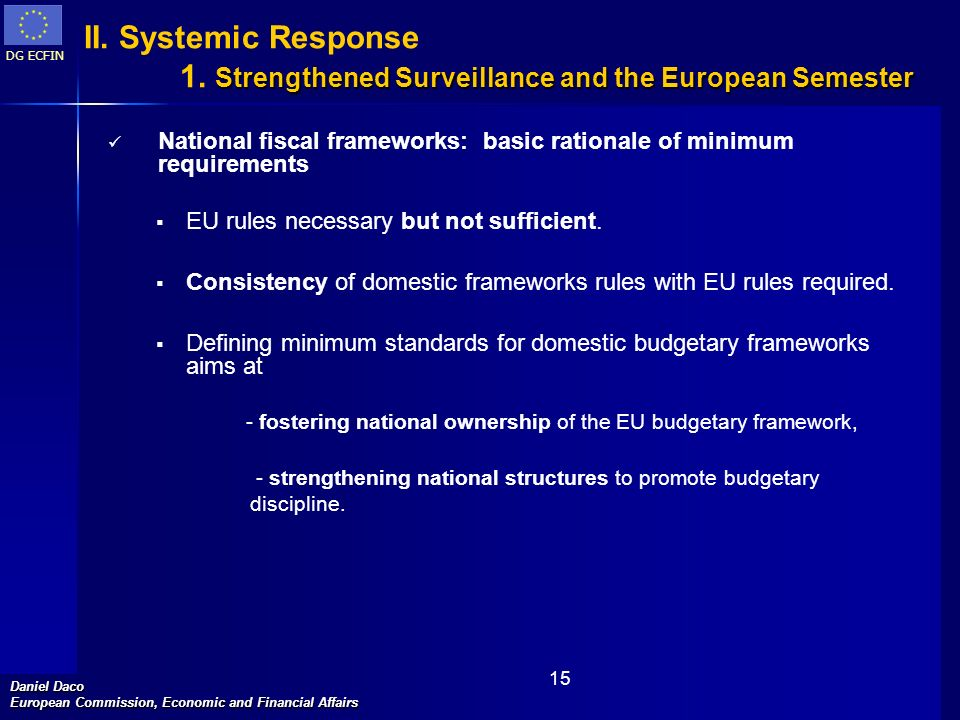 1. Strengthened Surveillance and the European Semester