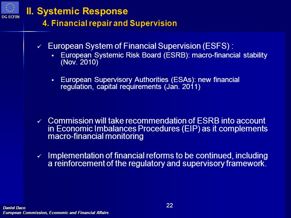 II. Systemic Response 4. Financial repair and Supervision