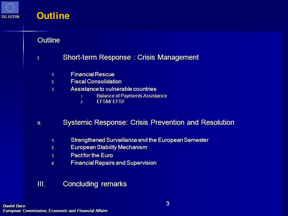 Outline Outline Short-term Response : Crisis Management
