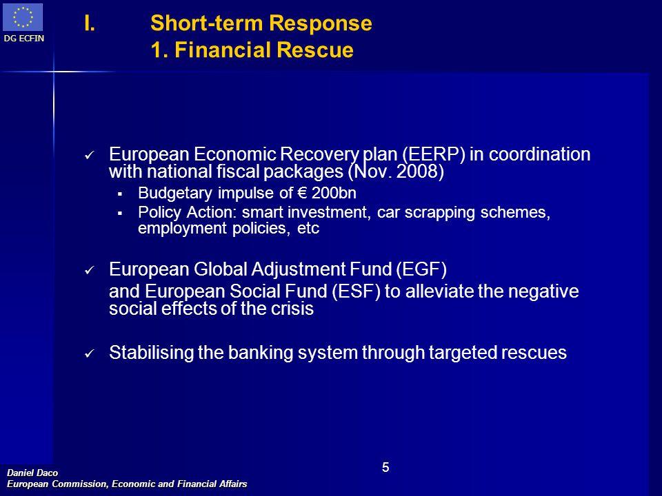 Short-term Response 1. Financial Rescue