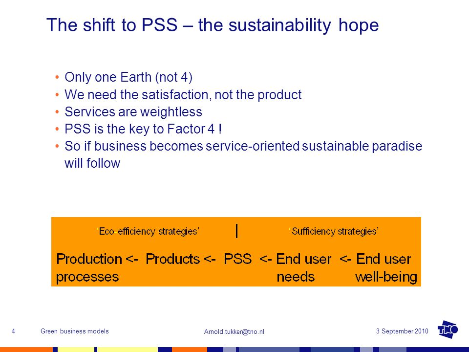 The shift to PSS – the sustainability hope