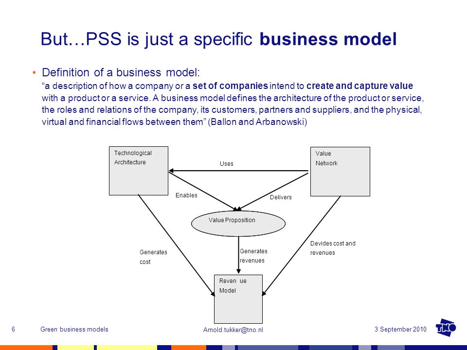 But…PSS is just a specific business model