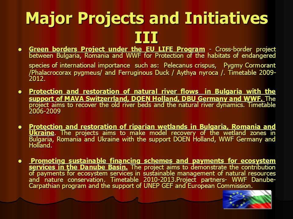 Major Projects and Initiatives III
