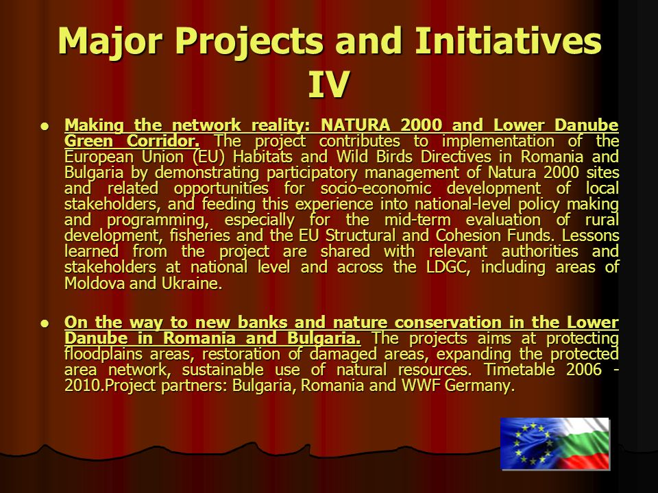 Major Projects and Initiatives IV