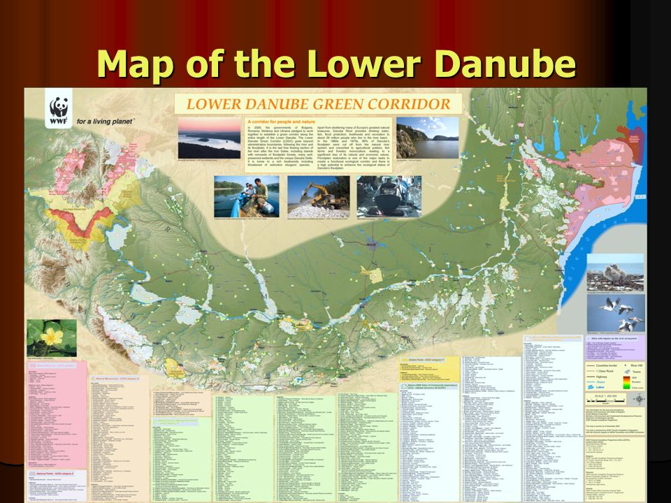 Map of the Lower Danube