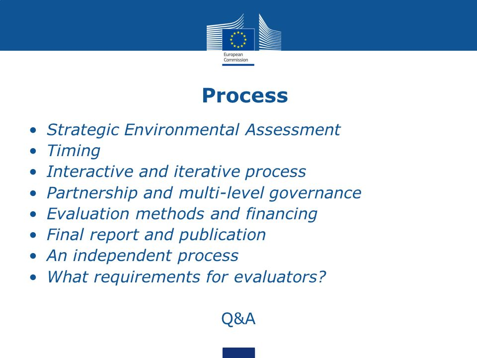 Process Strategic Environmental Assessment Timing