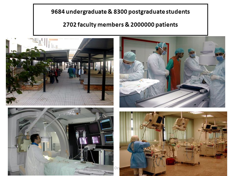 9684 undergraduate & 8300 postgraduate students 2702 faculty members & 2000000 patients