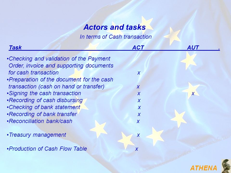 In terms of Cash transaction