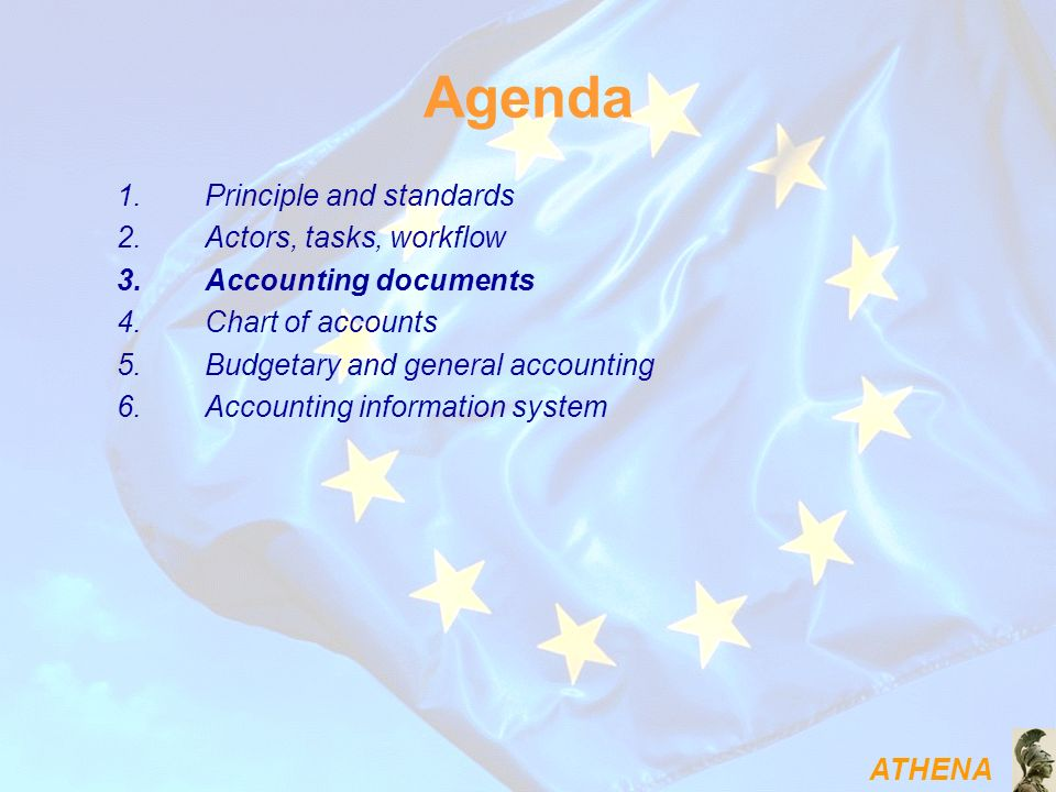 Agenda Principle and standards Actors, tasks, workflow