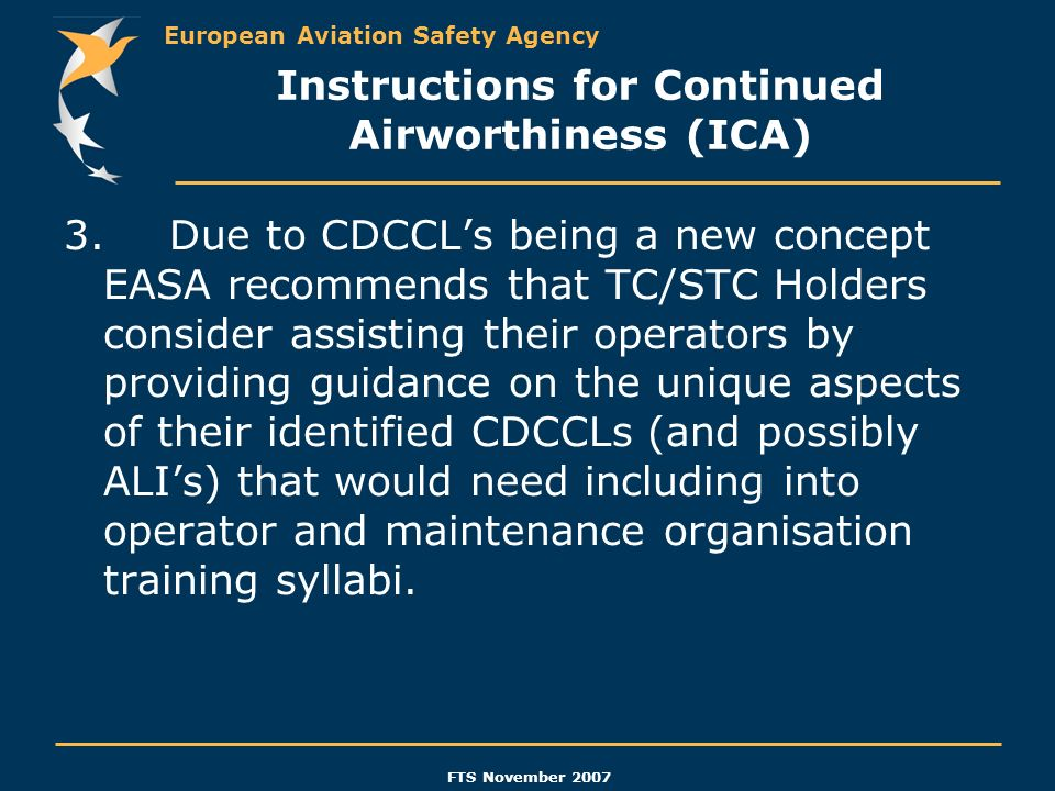 Instructions for Continued Airworthiness (ICA)