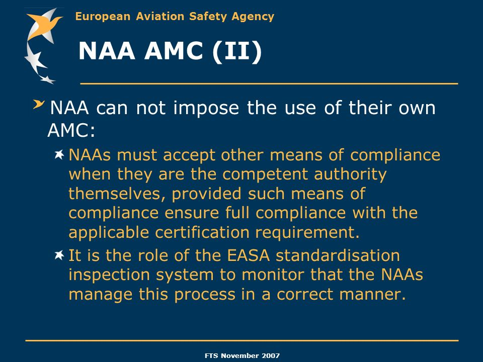 NAA AMC (II) NAA can not impose the use of their own AMC: