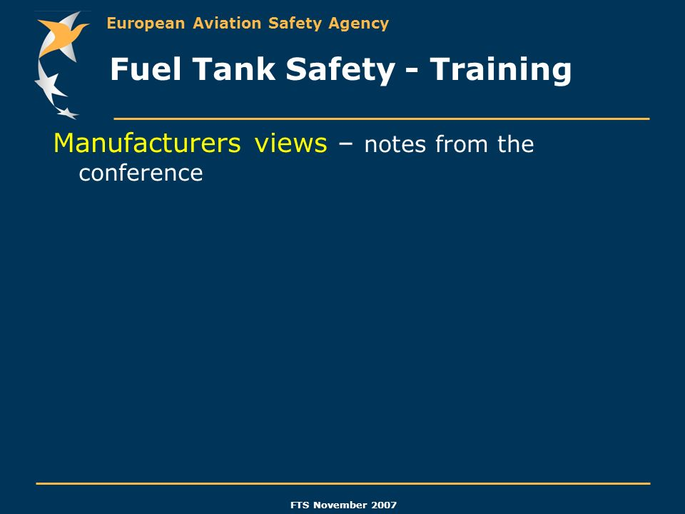 Fuel Tank Safety - Training