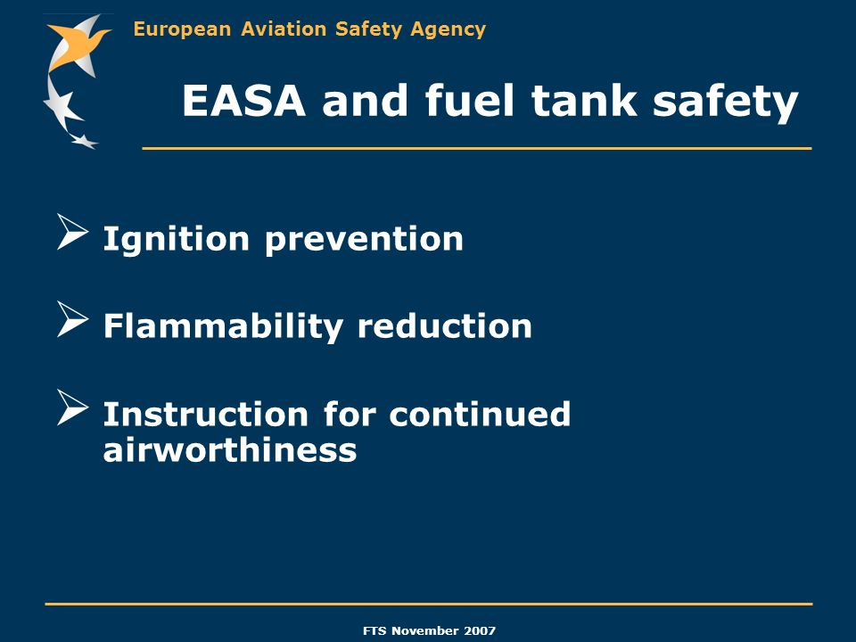 EASA and fuel tank safety