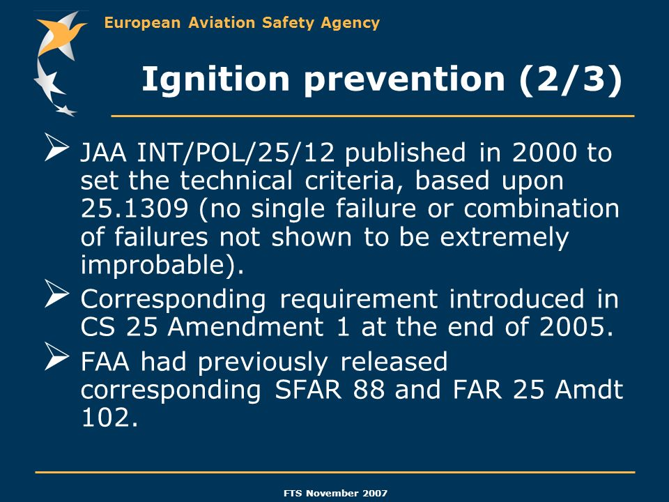 Ignition prevention (2/3)