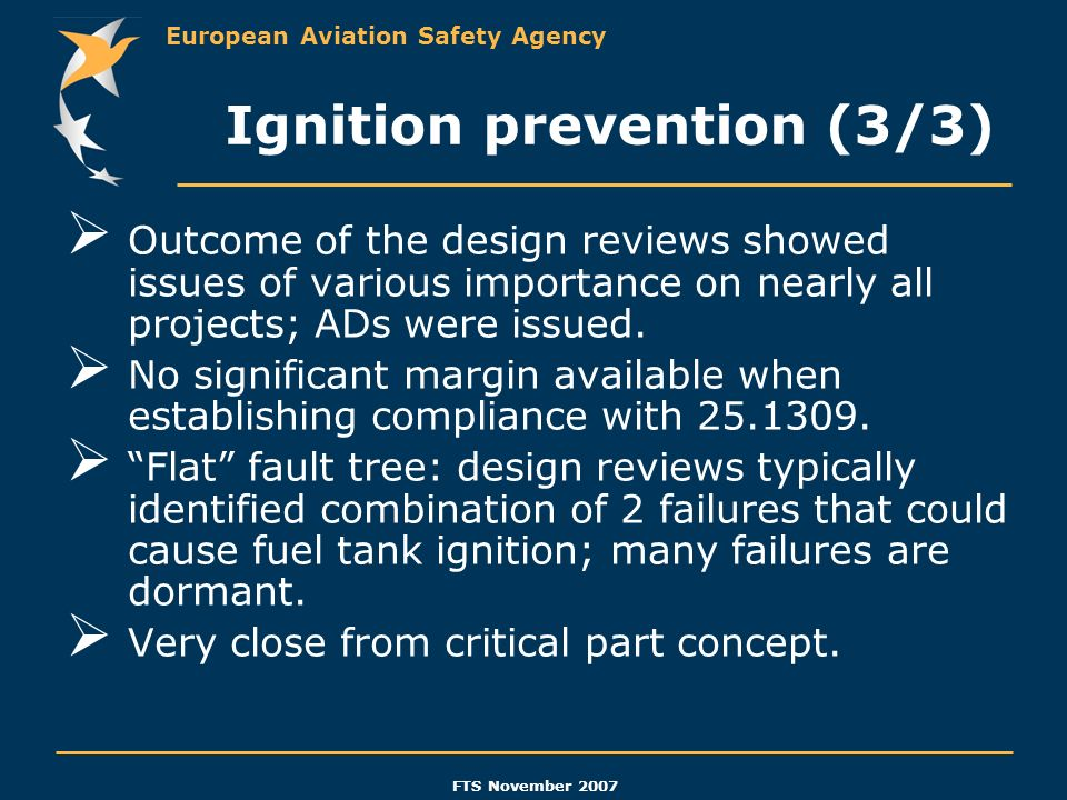 Ignition prevention (3/3)