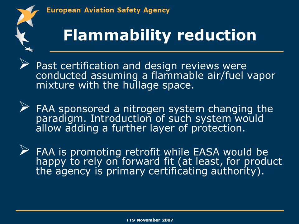 Flammability reduction