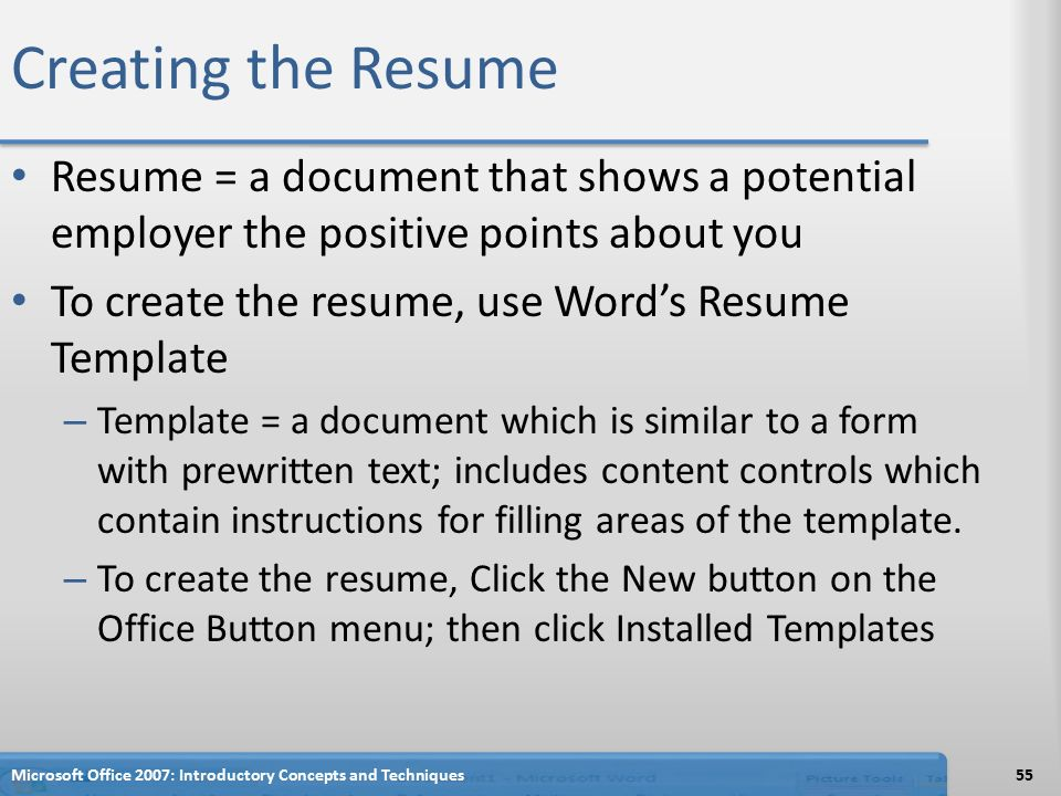 Web Developer Resume Example Creating A Cover Letter And A Resume  Ppt Video Online Download Fashion Resume Templates Excel with Good General Objective For Resume Word Creating The Resume Resume  A Document That Shows A Potential Employer The  Positive Points About Skills To Put In A Resume Excel