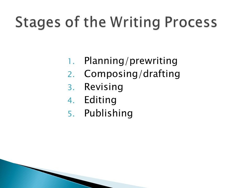 htree stages of the writing process An explanation of steps in the academic writing process  to do the first three parts if you work hard  stage of the academic writing process you'll edit and .