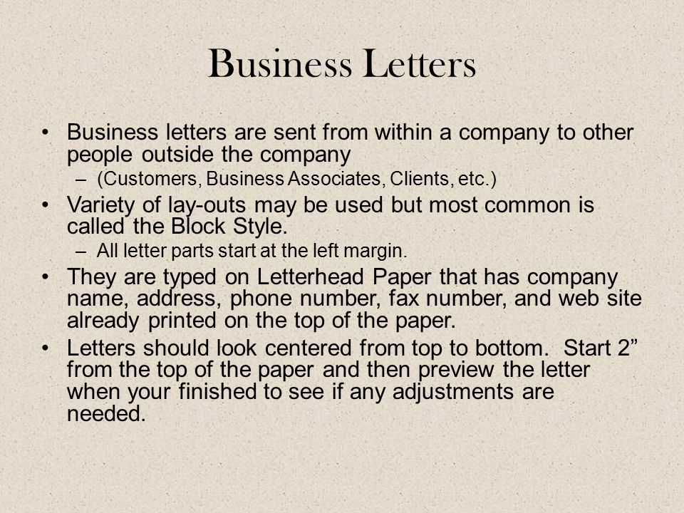Business letters business letters are sent from within a company 1 business letters business letters are sent spiritdancerdesigns Image collections