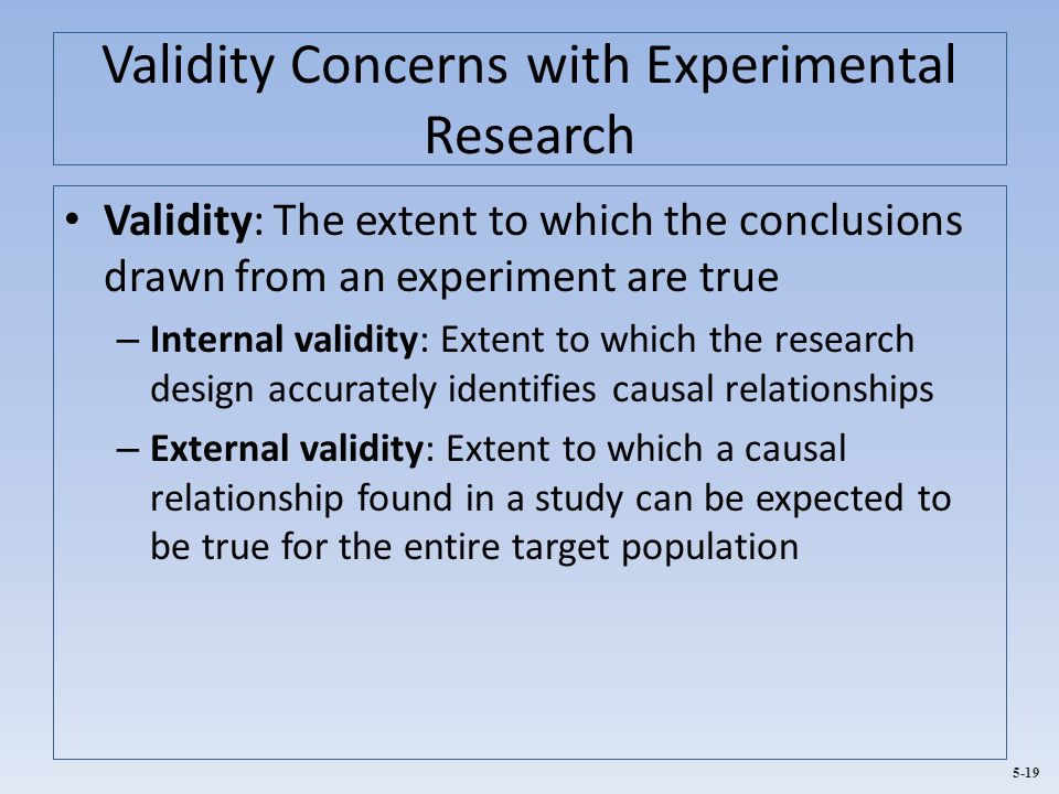 Causal research design