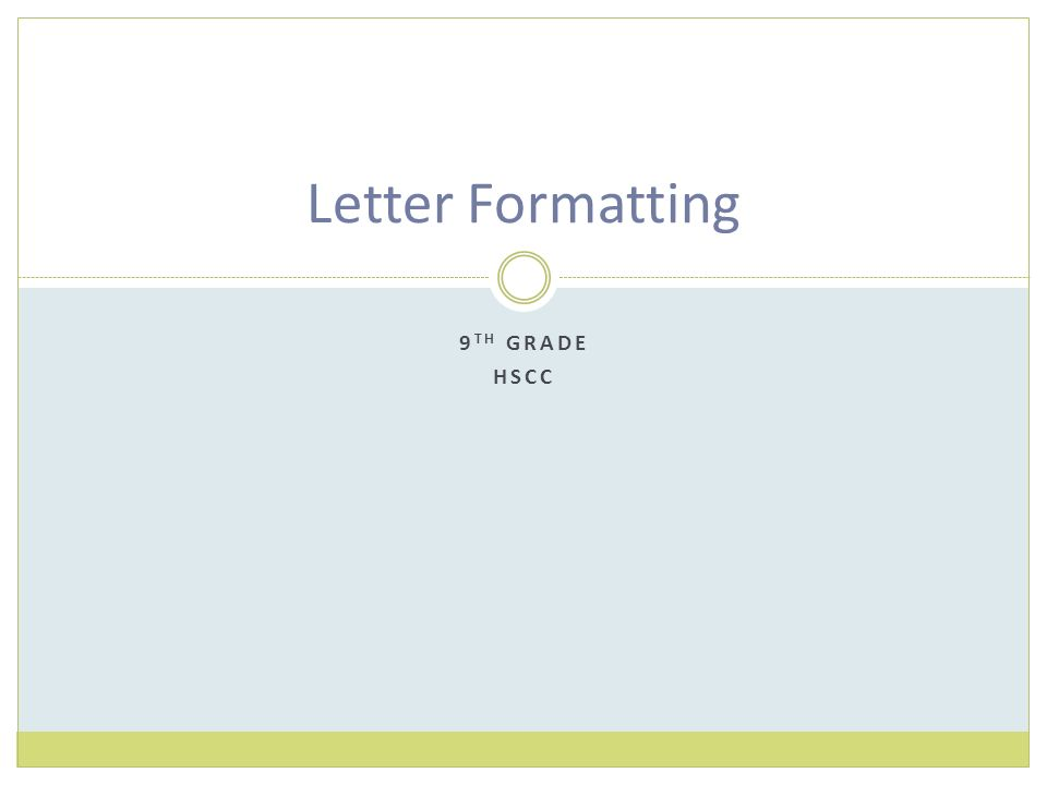 letterhead formatting