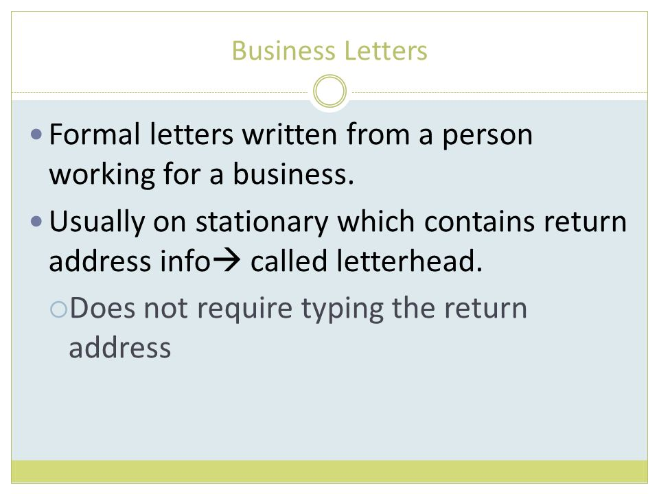 typing business letter