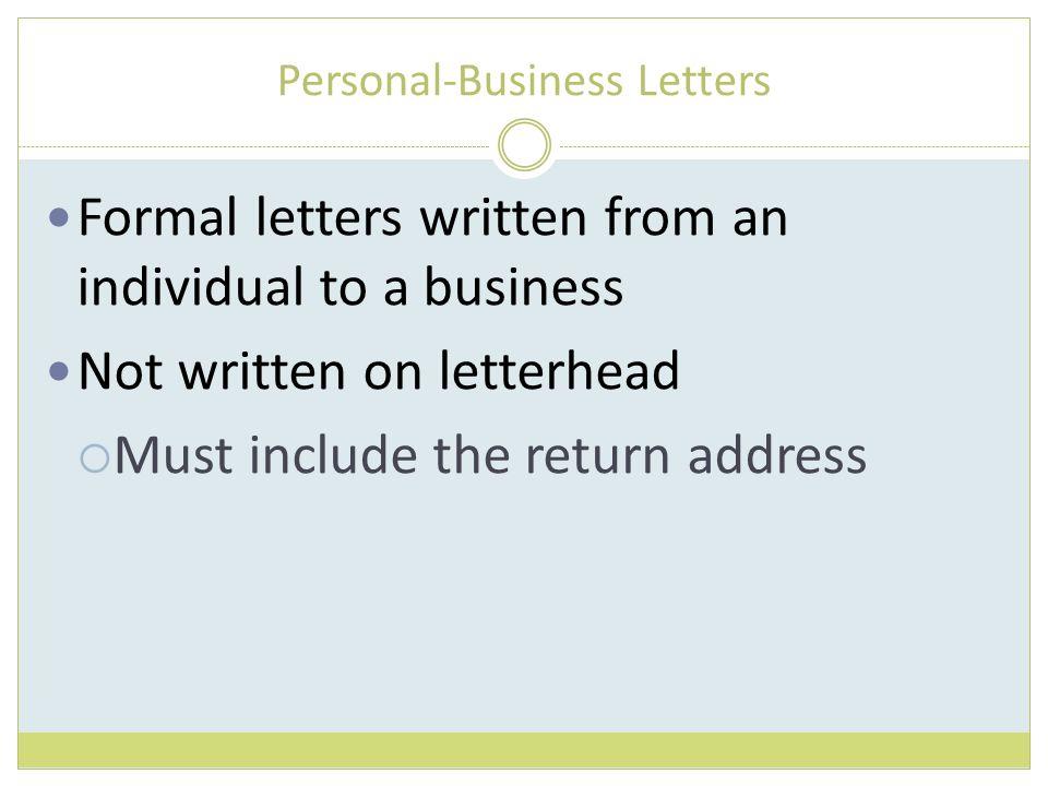 Letter Formatting 9th Grade HSCC
