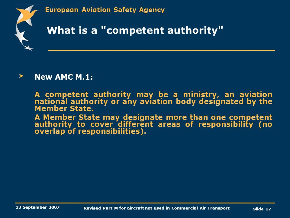 What is a competent authority