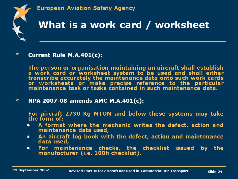 What is a work card / worksheet
