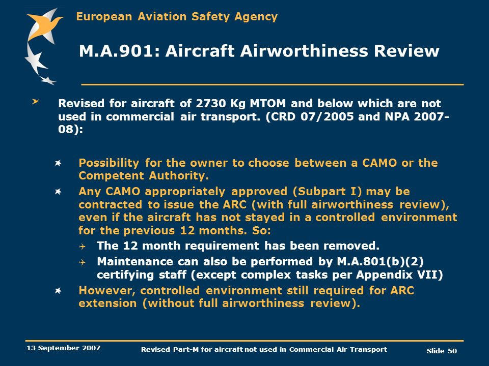 M.A.901: Aircraft Airworthiness Review