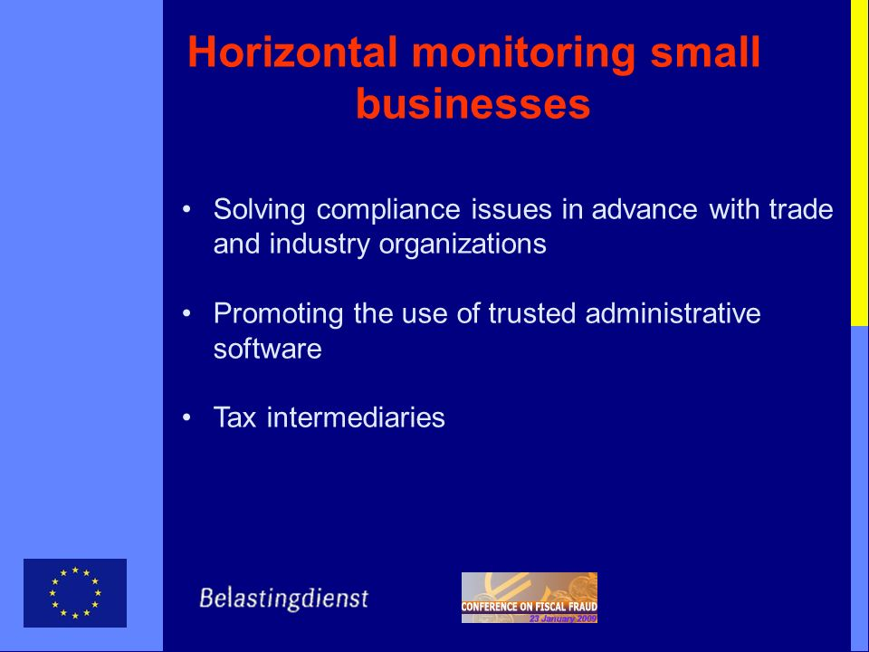 Horizontal monitoring small businesses