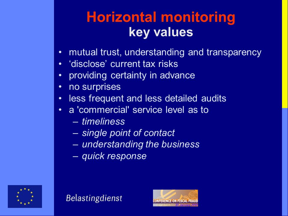 Horizontal monitoring key values
