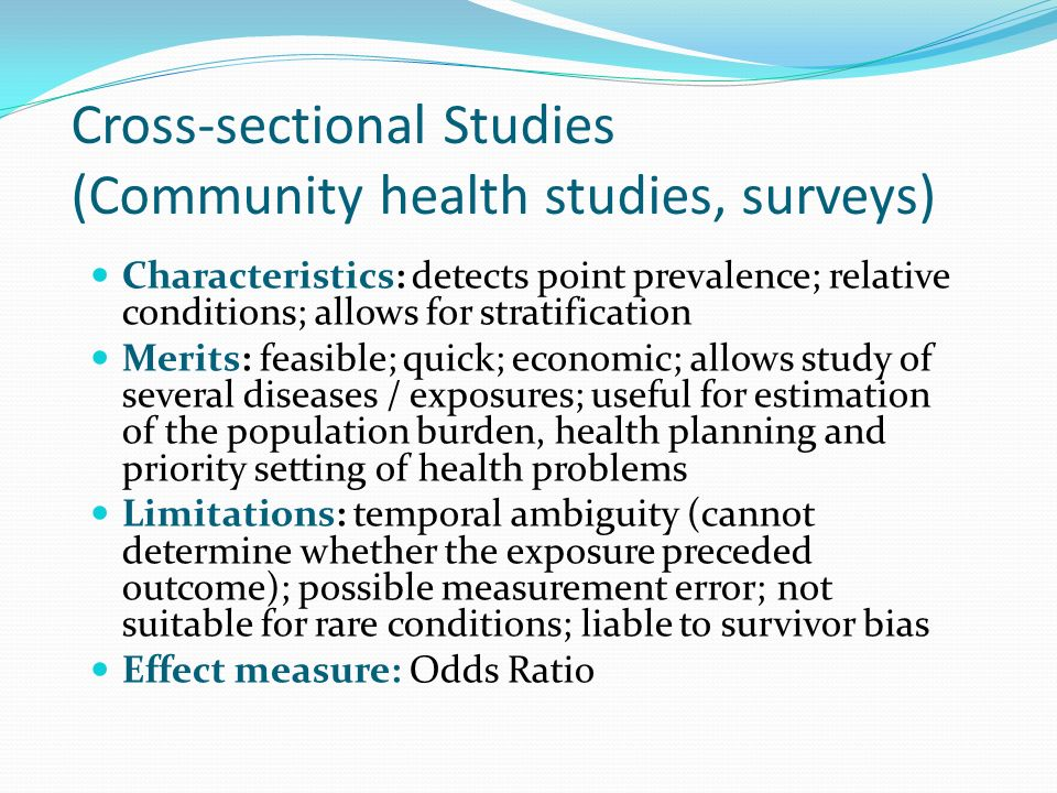 20 Cross Sectional Studies