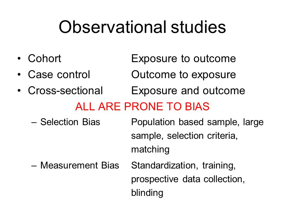 measurement bias in case control studies Measurement of the effects of survival bias result of survival bias case-control studies with design of case-control genetic association studies of.