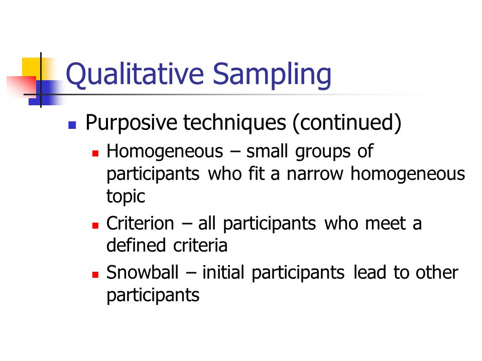 Stratified Purposeful Sampling