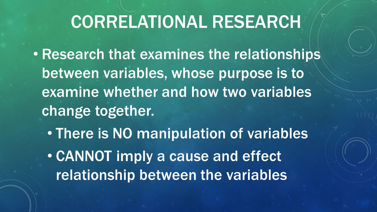 study relationship between two variables
