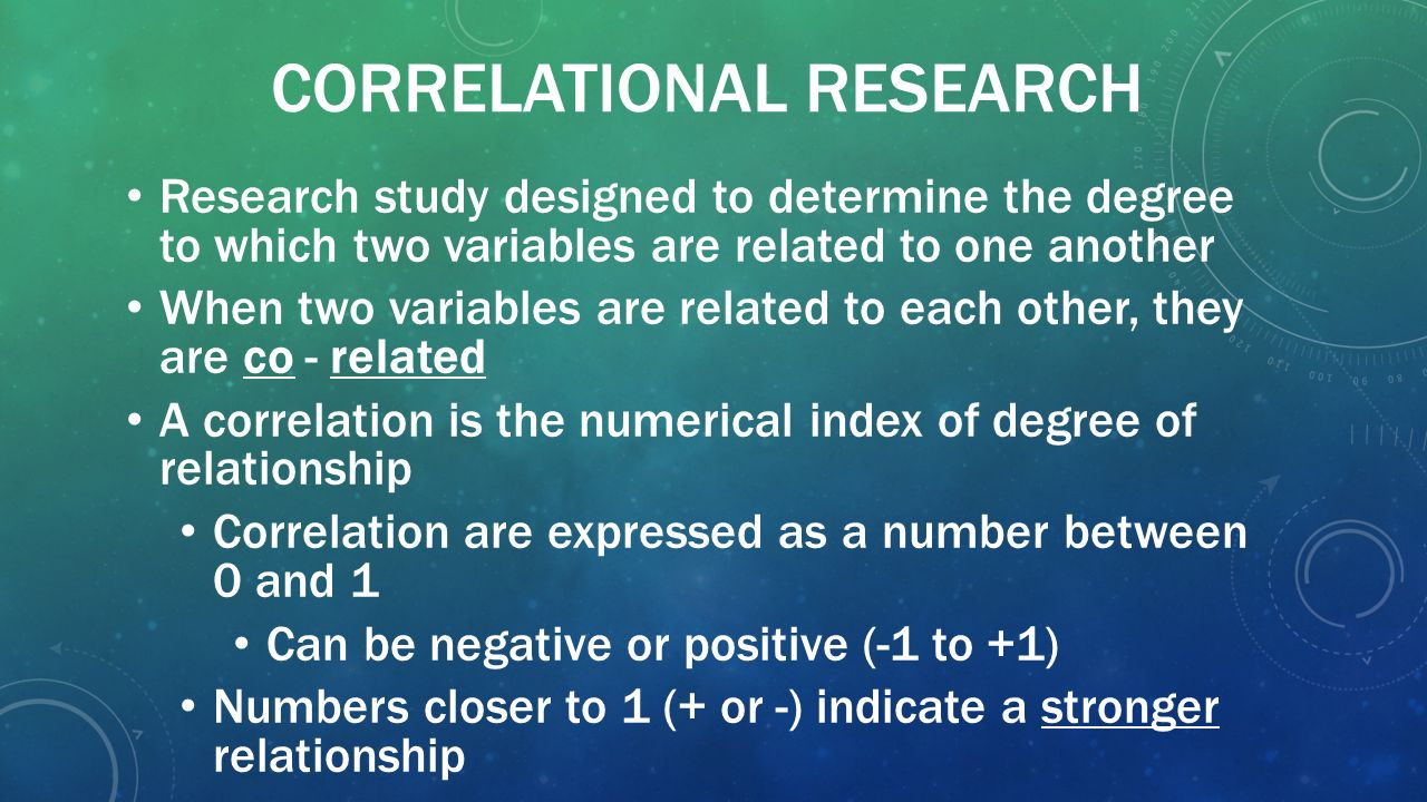 research methods correlations Learning objectives explain some reasons that researchers use complex correlational designs create and interpret a correlation matrix describe how researchers can use correlational.