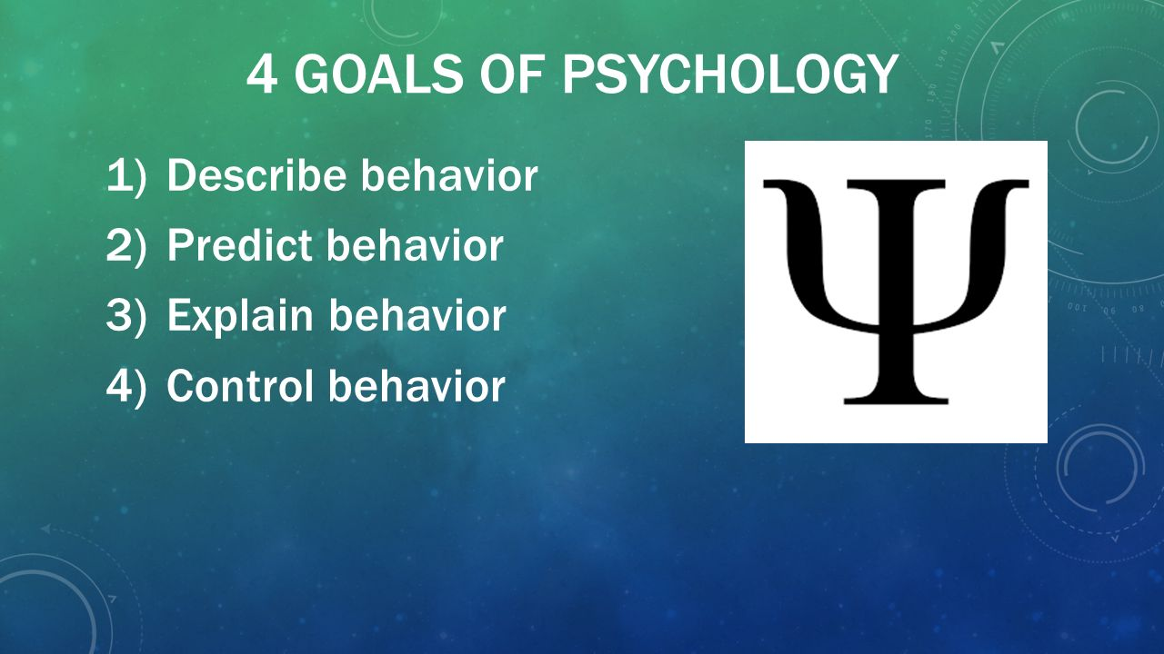 What Are the Four Goals of Psychology?