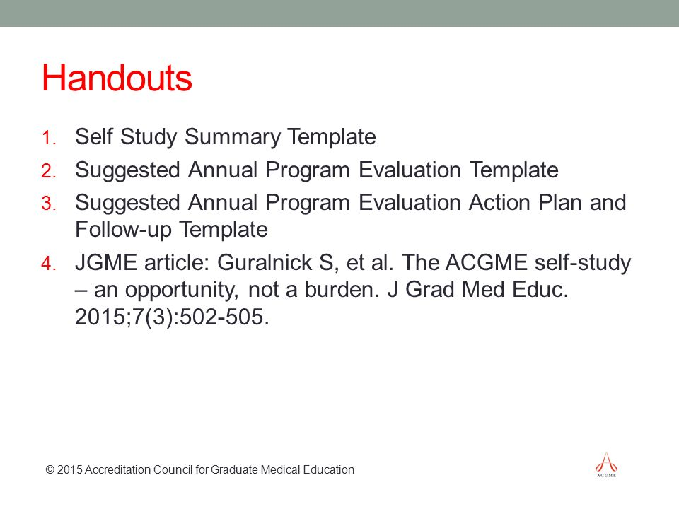 The Acgme SelfStudy And Year Site Visit  Ppt Video Online