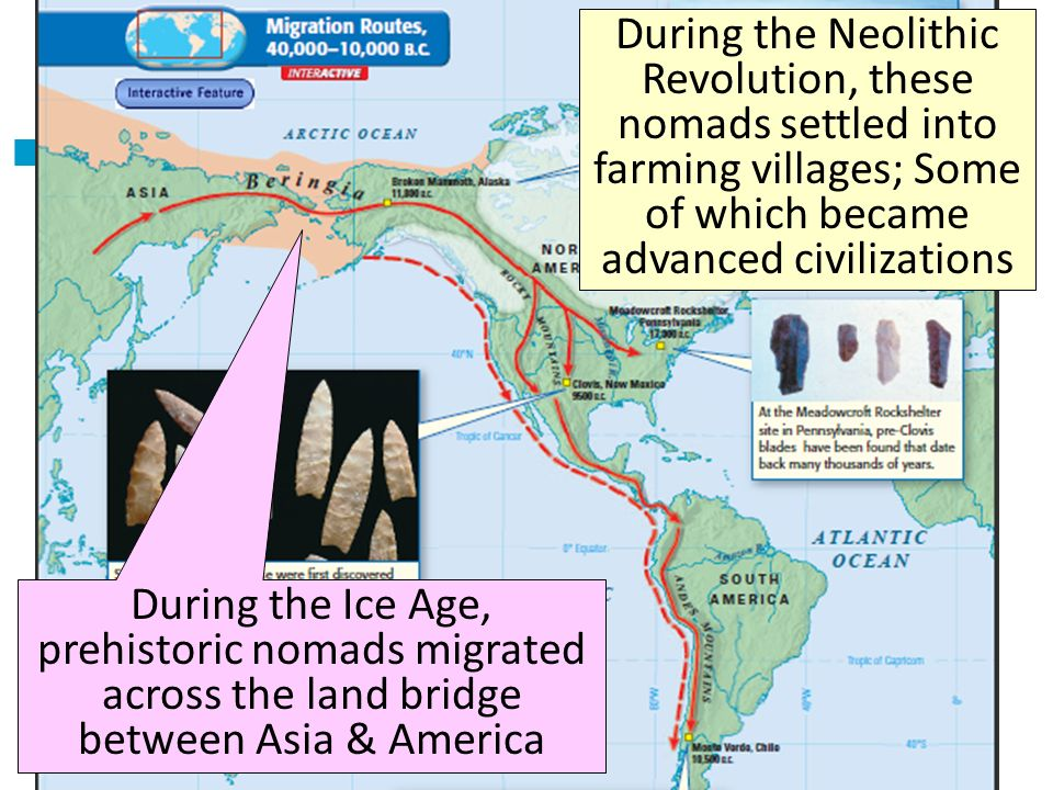 Title During the Neolithic Revolution, these nomads settled into farming villages; Some of which became advanced civilizations.