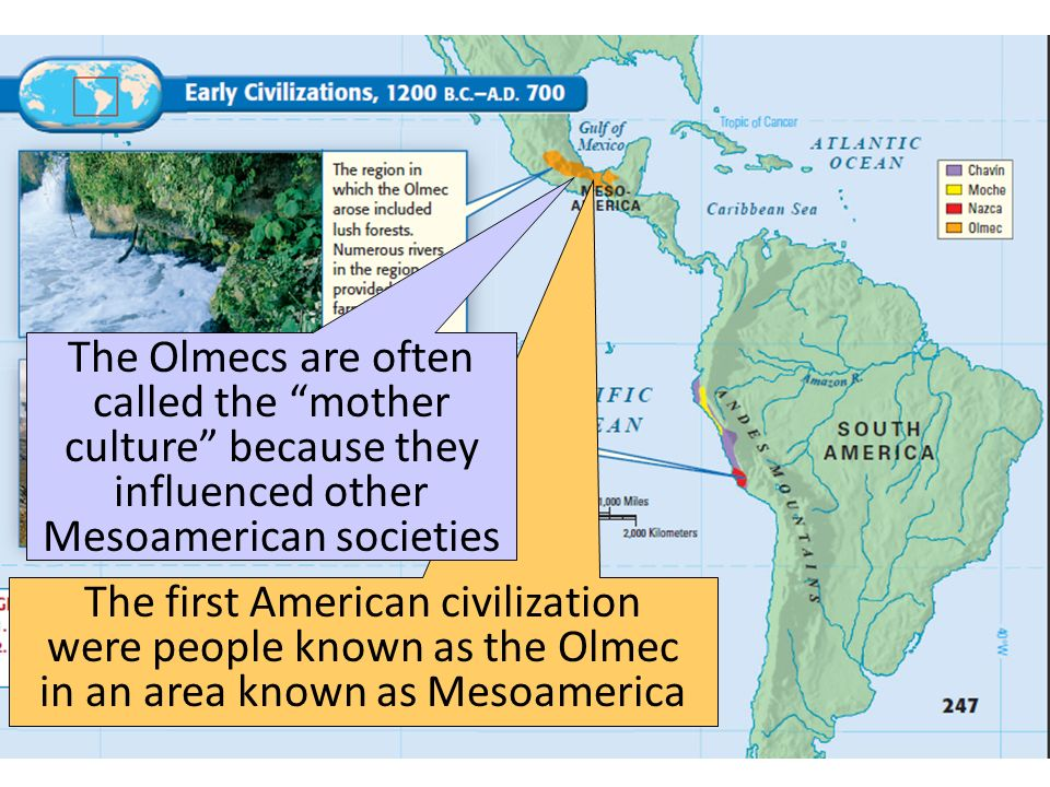 The Olmecs The Olmecs are often called the mother culture because they influenced other Mesoamerican societies.