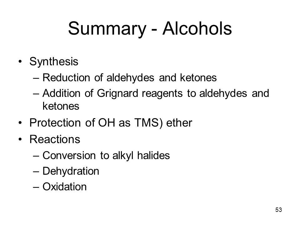 chapter 17 alcohols and phenols Chapter 17: alcohols and phenols - chapter 17: alcohols and phenols dehydration of alcohols to yield alkenes the general reaction: forming an alkene from an alcohol through loss of o-h and h.
