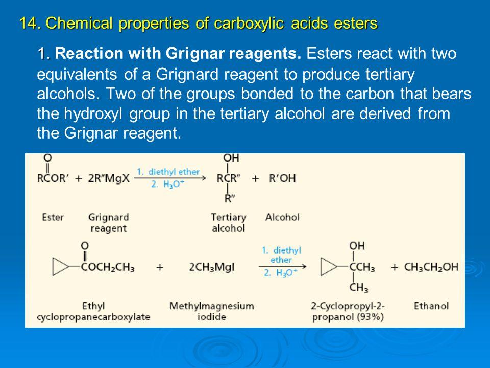 chemical properties of esters pdf