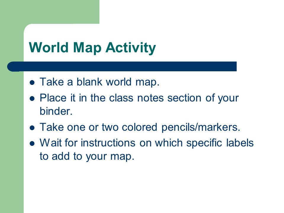 Compass Rose Ppt Download - Blank world map exercise