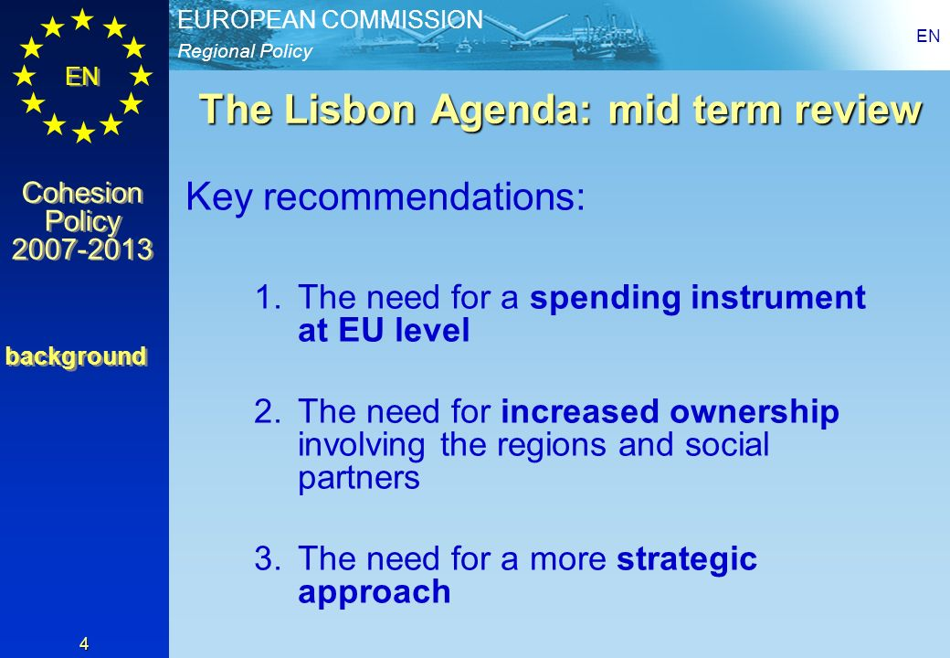 The Lisbon Agenda: mid term review