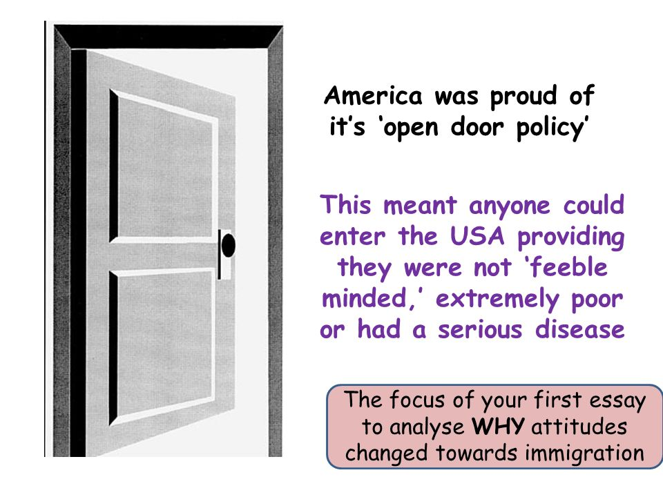 why did immigrants come to america essay Without the extra work and consumption provided by immigrants, the economy of the united states would collapse despite the common notion that immigrants steal jobs from americans, the 2005 economic report of the president shows that immigrants actually create many jobs for natives by increasing the demand for.