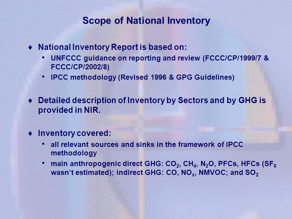 Scope of National Inventory